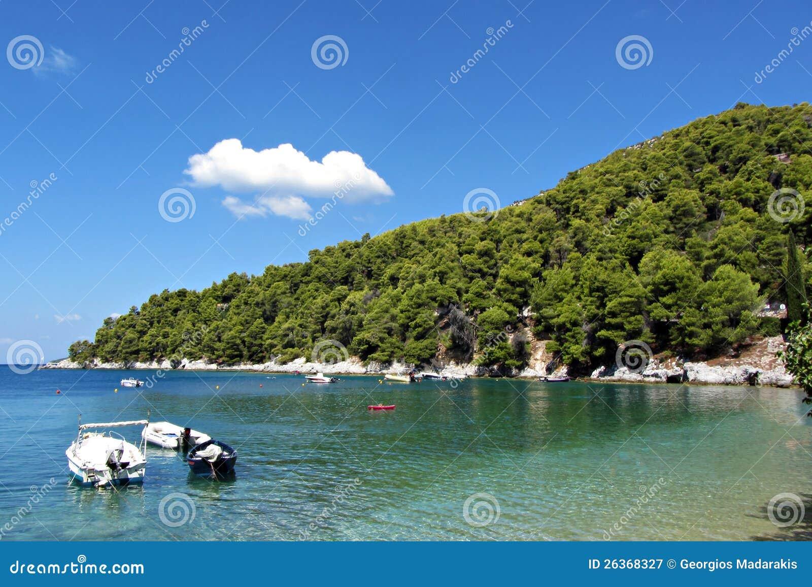 Agnontas海滩