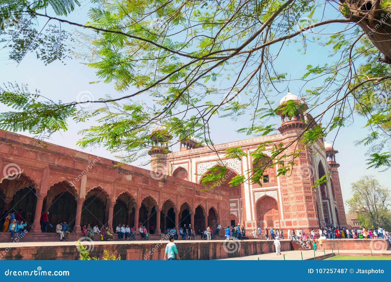 Agra-Fort: ein historisches Fort in der Stadt von Agra in Indien