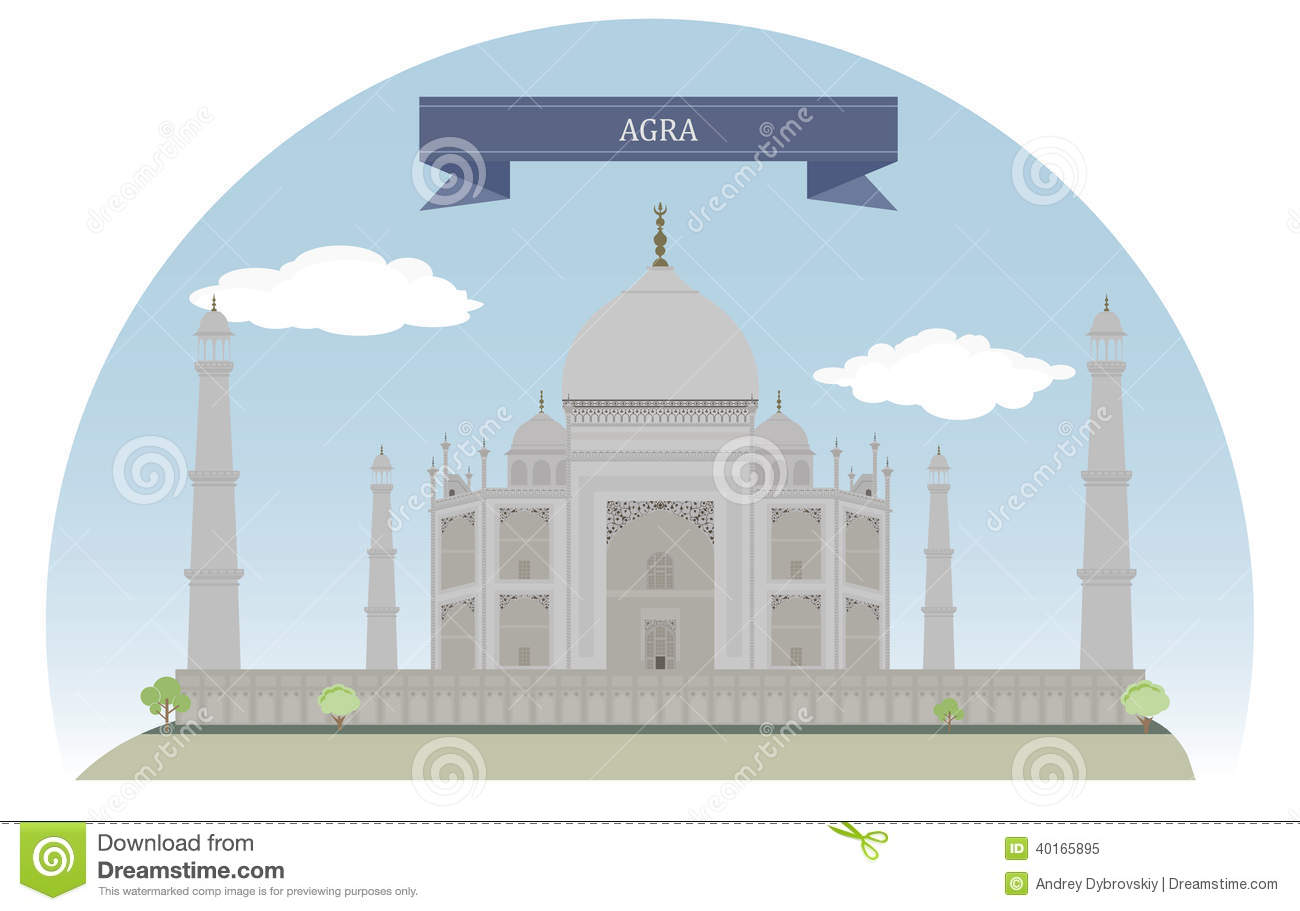Agra India  City pictures : Agra, India Stock Vector Image: 40165895