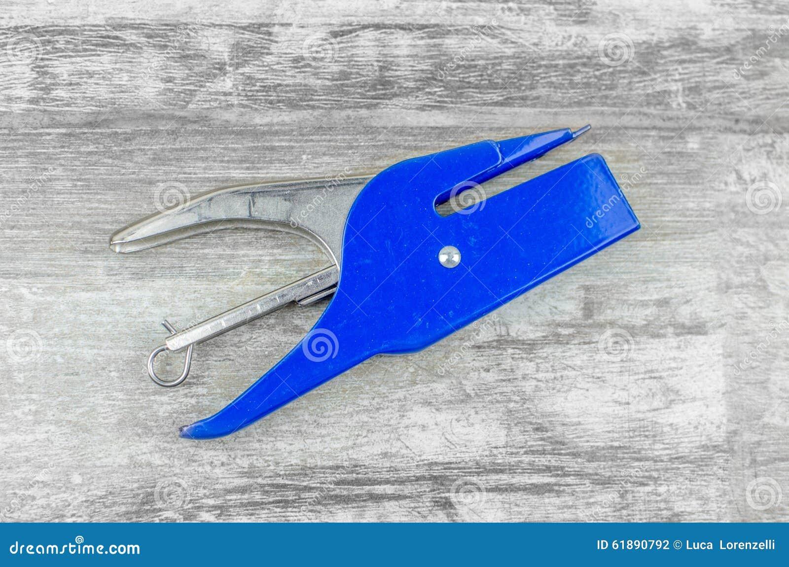 Agrafeuse bleue