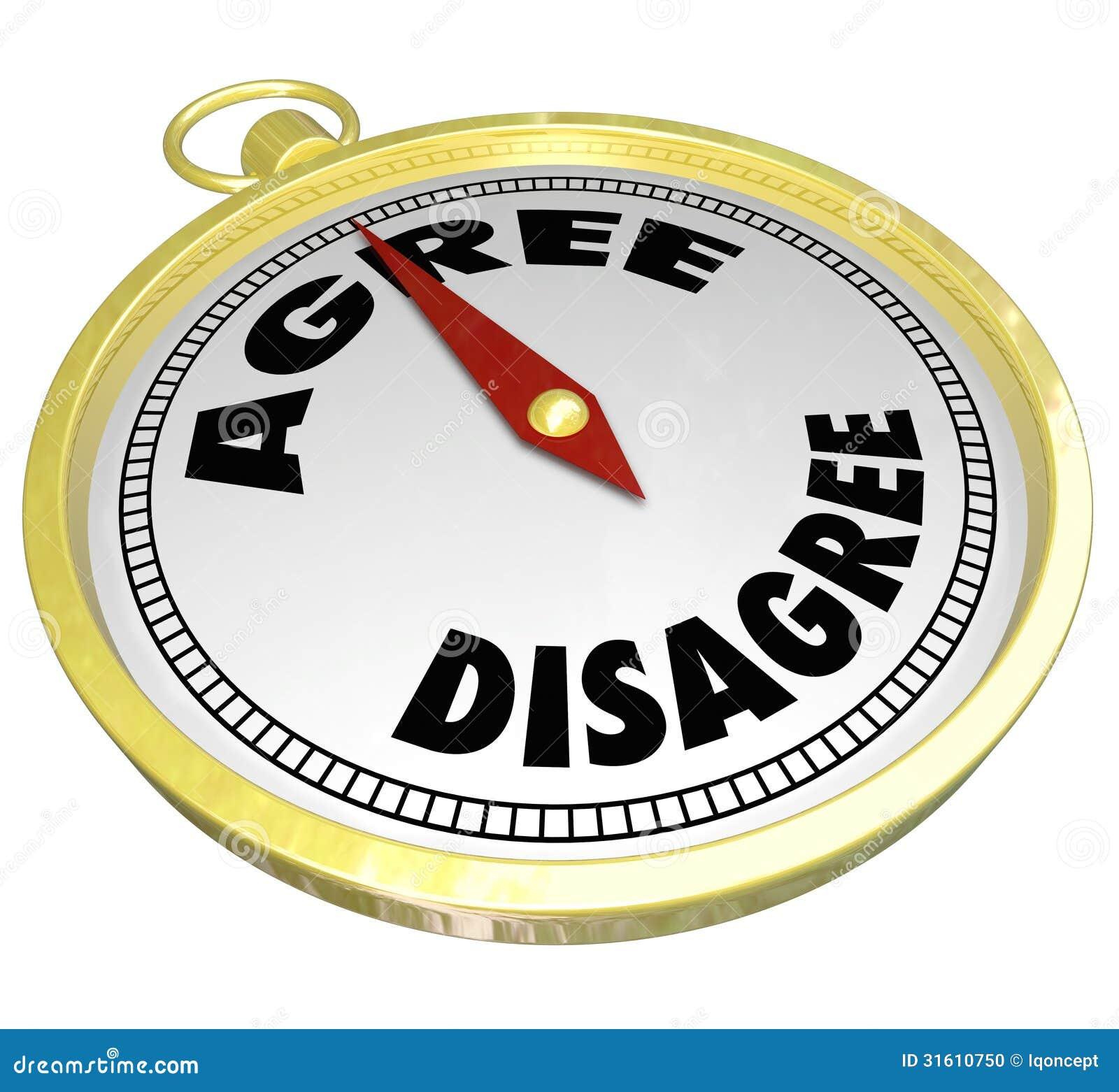 Agree Vs Disagree Words Pass Vote Consensus Decision