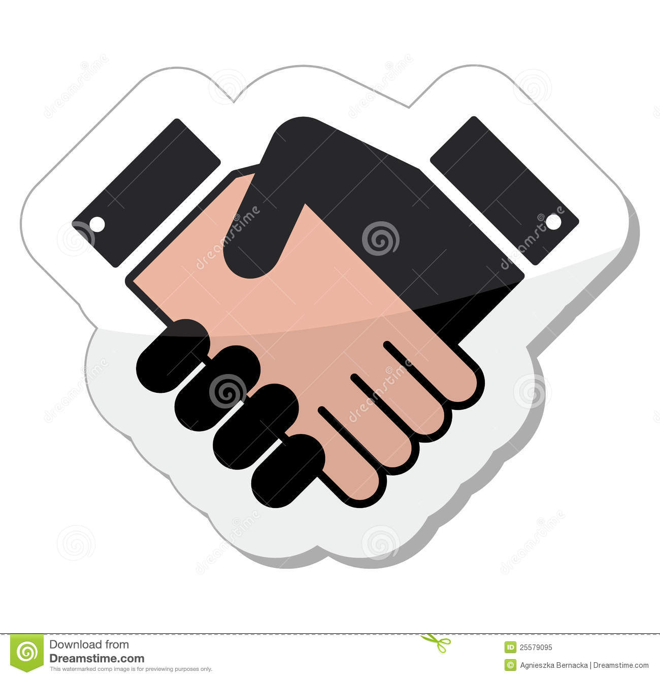 Agreement Handshake Icon Label Royalty Free Stock