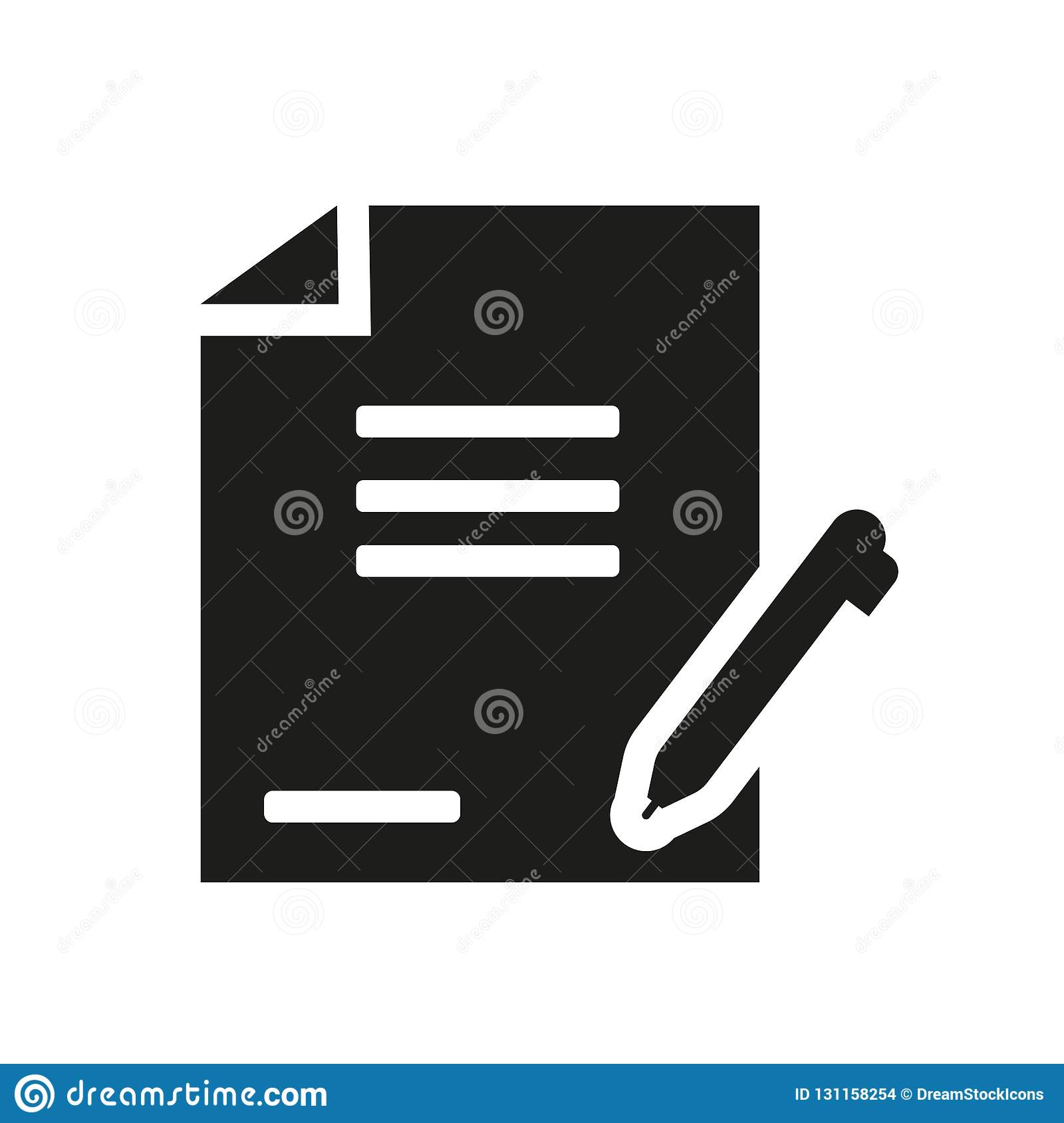 Agreement icon. Trendy Agreement logo concept on white background from law and justice collection