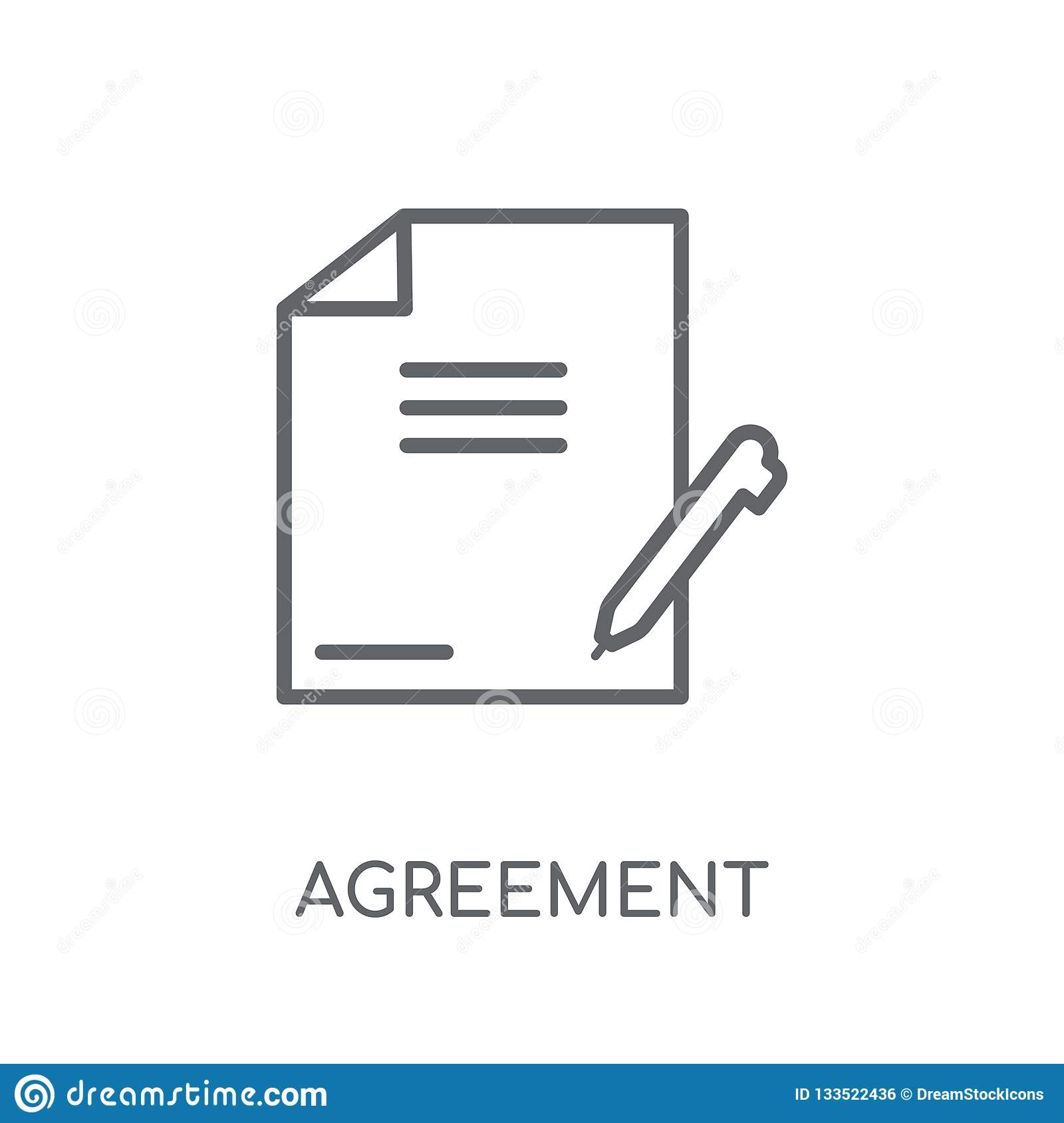 Agreement linear icon. Modern outline Agreement logo concept on