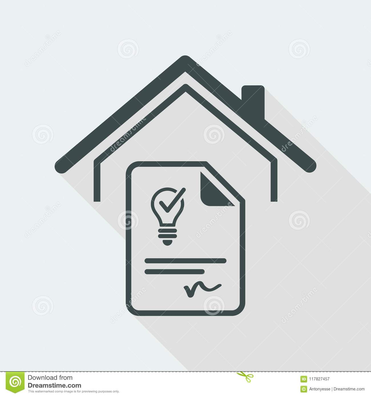 Agreement For The Supply Of Electricity Vector Web Icon Stock