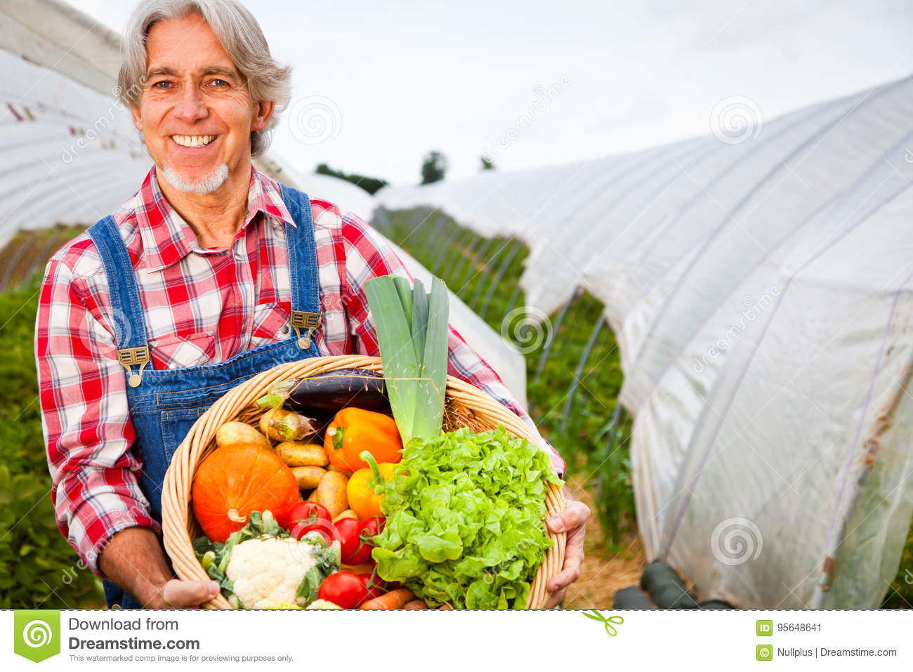 Agriculteur Standing In Front Of His Greenhouse