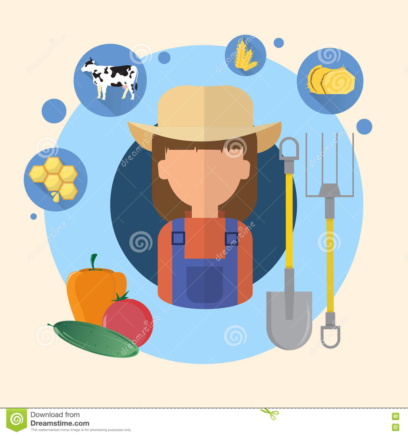 Agriculteur Woman Agriculture Icon