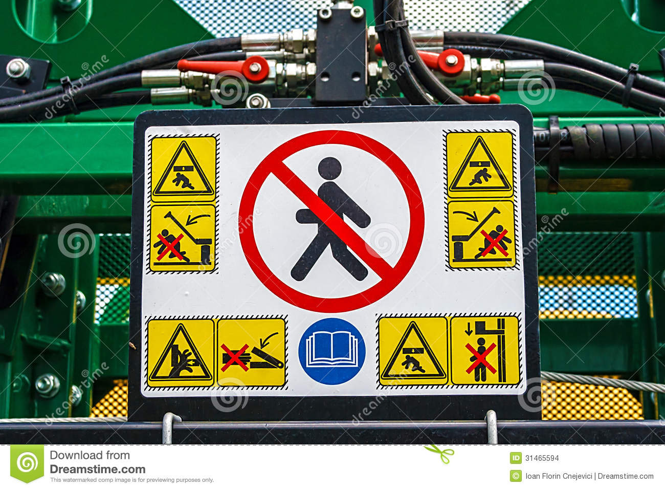 Tractor Technology Panel : Agricultural equipment detail stock images image