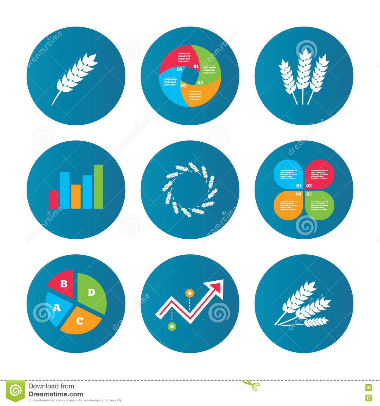 Agricultural Icons  Gluten Free Symbols  Stock Vector - Illustration