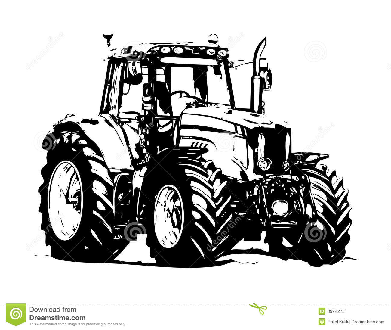 agricultural tractor illustration art stock illustration Farmall Tractor Clip Art tractor silhouette clip art free