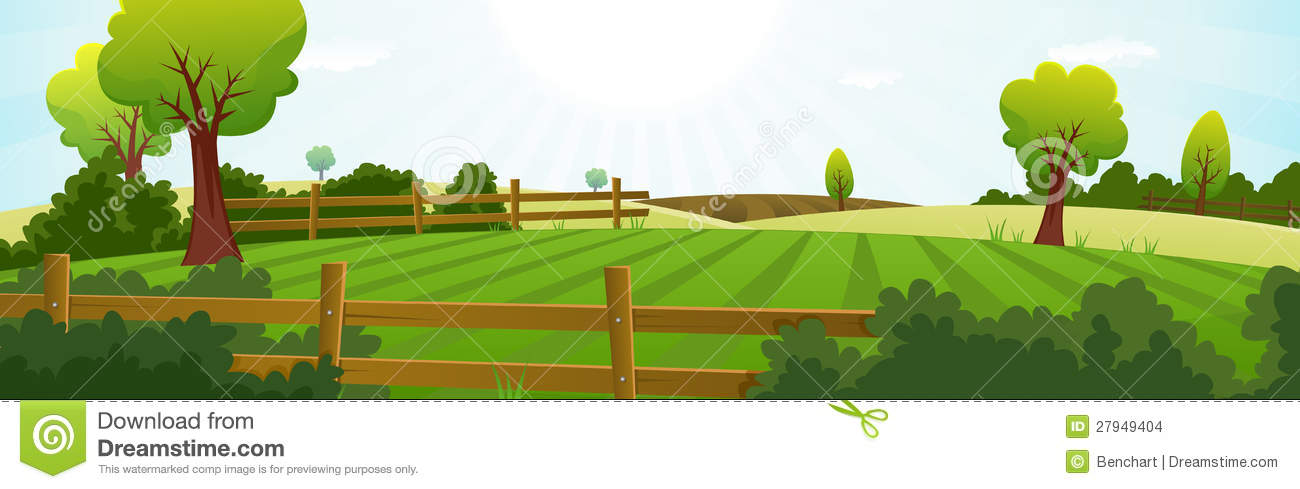 Illustration of a spring or summer season agriculture and farming wide ...Western Desert Clipart