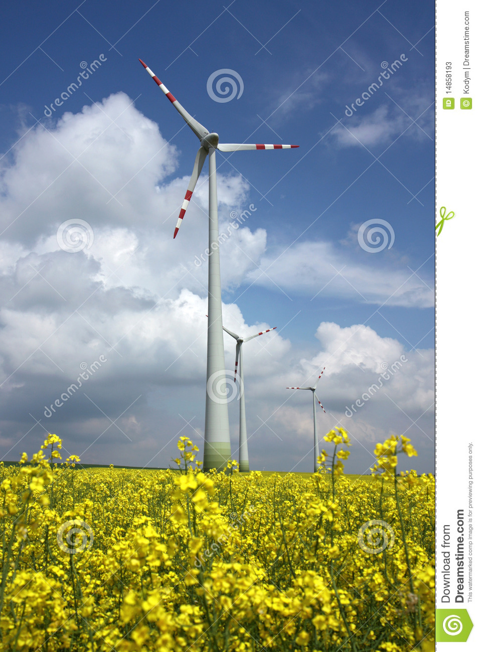 Agriculture field and wind mill power turbine