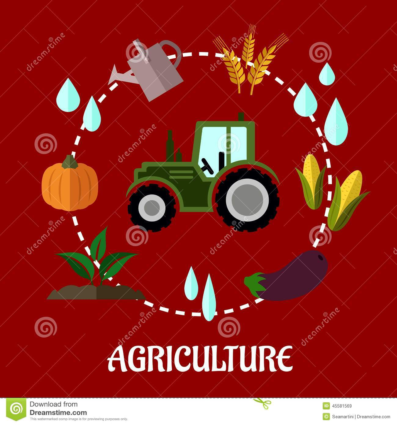 agriculture flat infographic concept stock vector