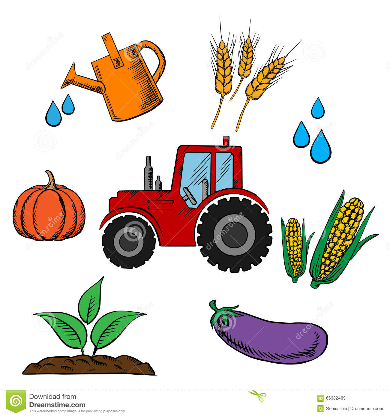 agriculture industry and farming food stock vector Wheat Clip Art Free Download wheat clipart free download
