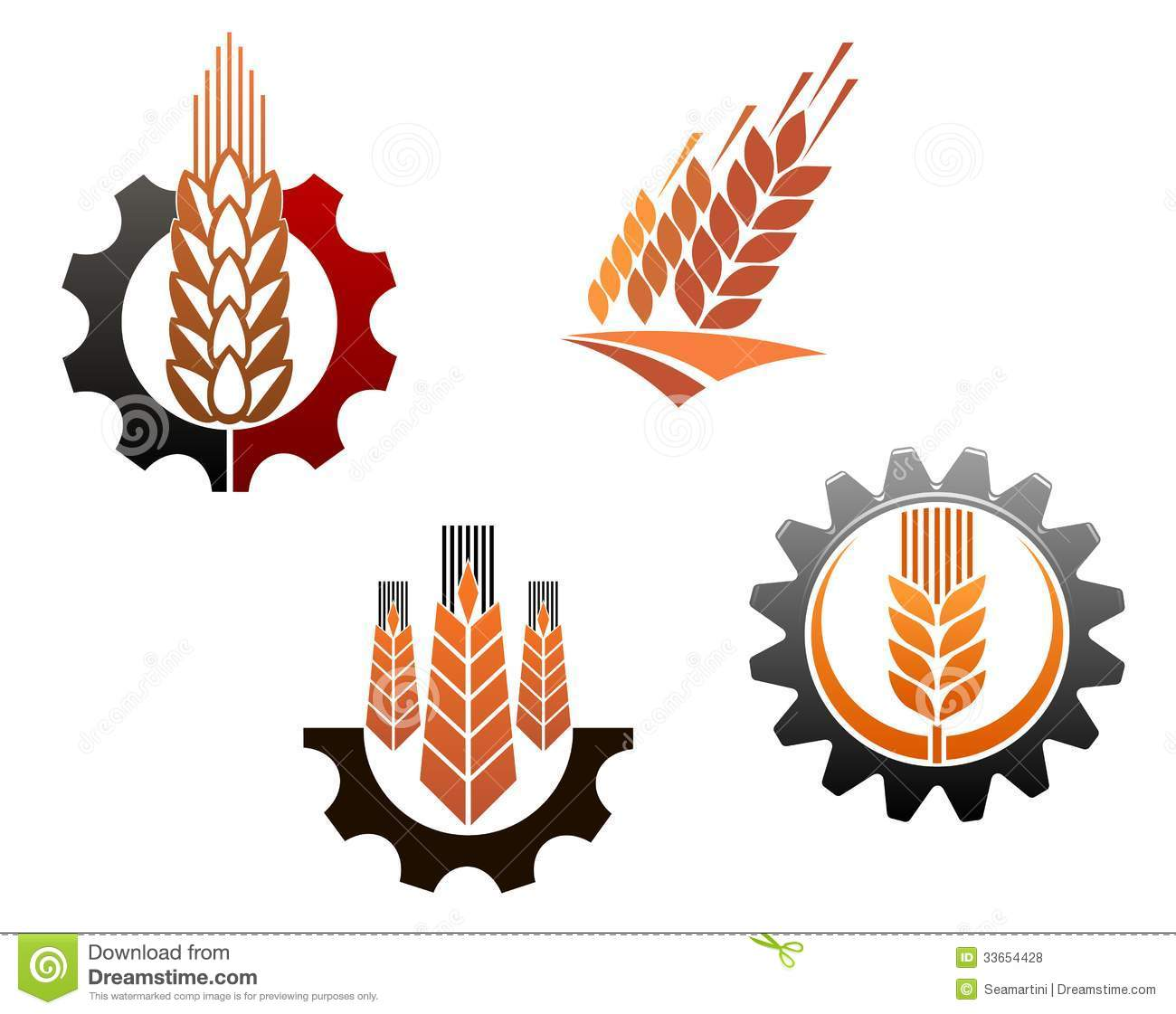 Agriculture Symbols Set Stock Vector Illustration Of