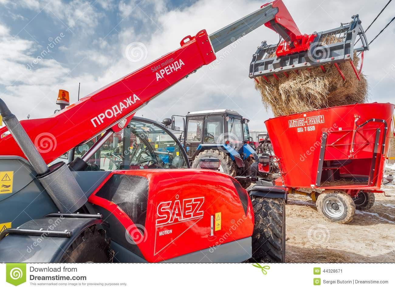 Agricultural Machinery Parts Wheel Gear : Agriculture wheel loader tyumen russia editorial photo