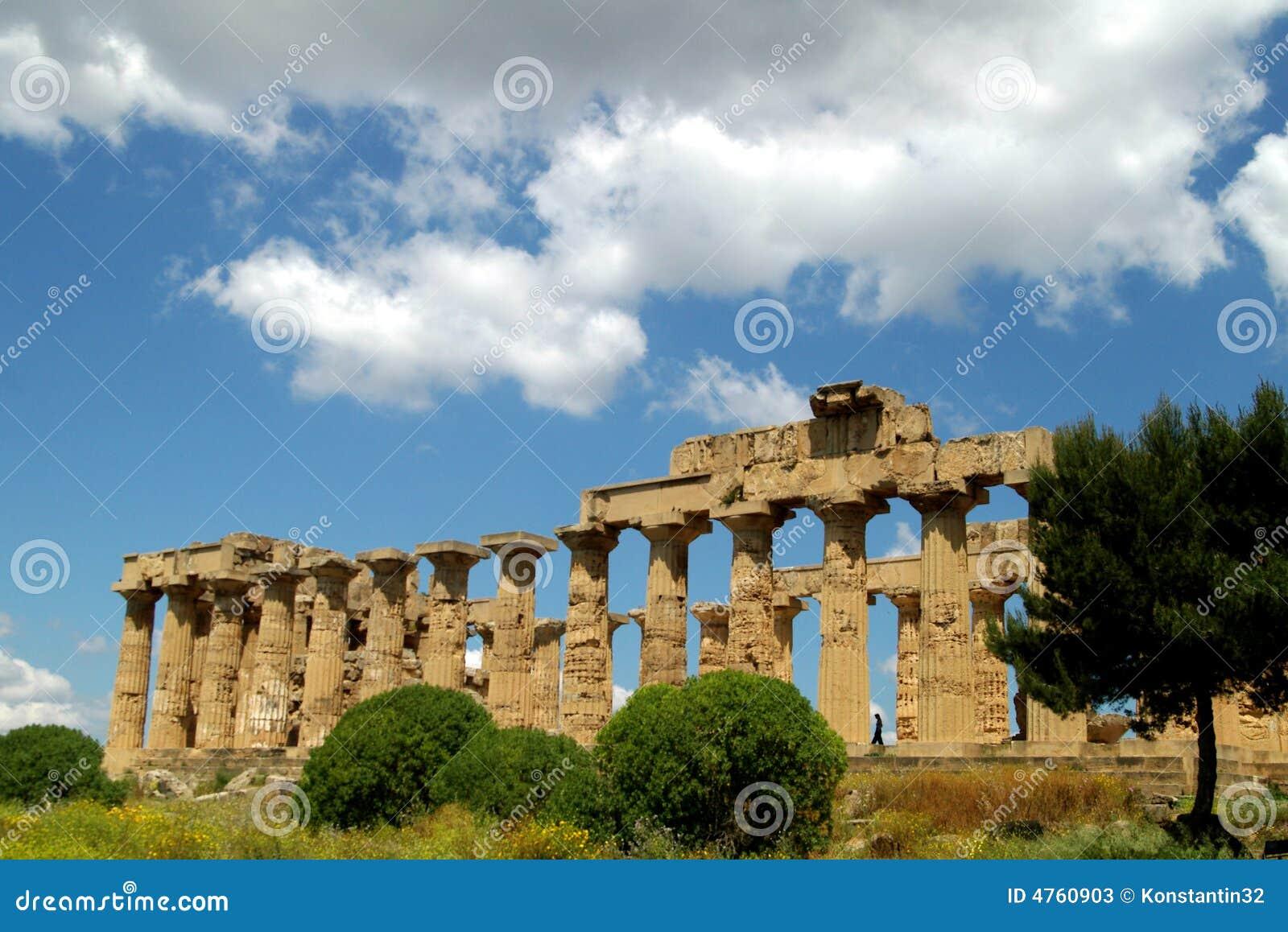 Agrigento grekiskt italy gammalt sicily tempel