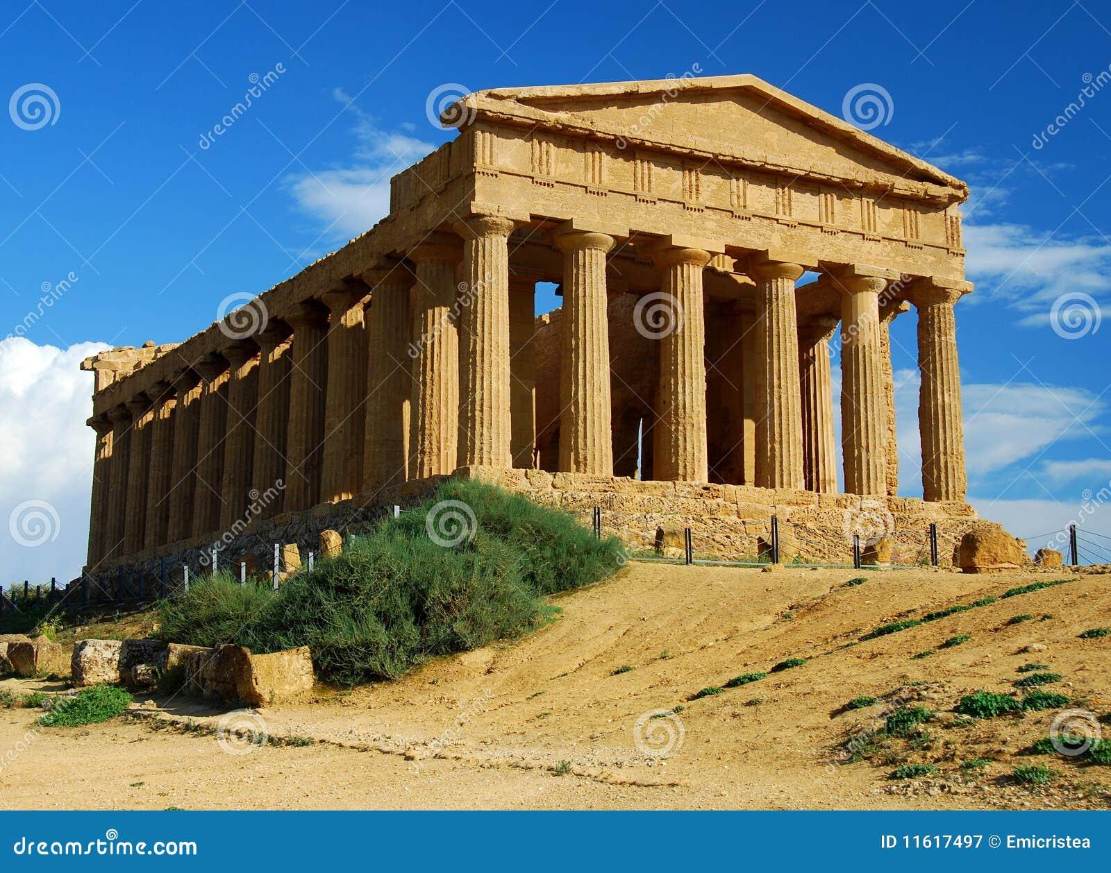 Agrigento grekiskt sicily tempel