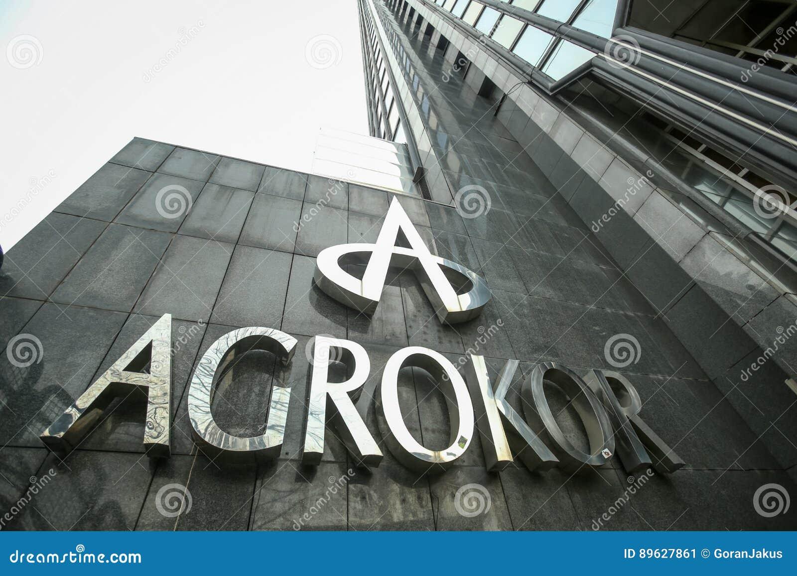 agrokor logo editorial photo image of horizontal