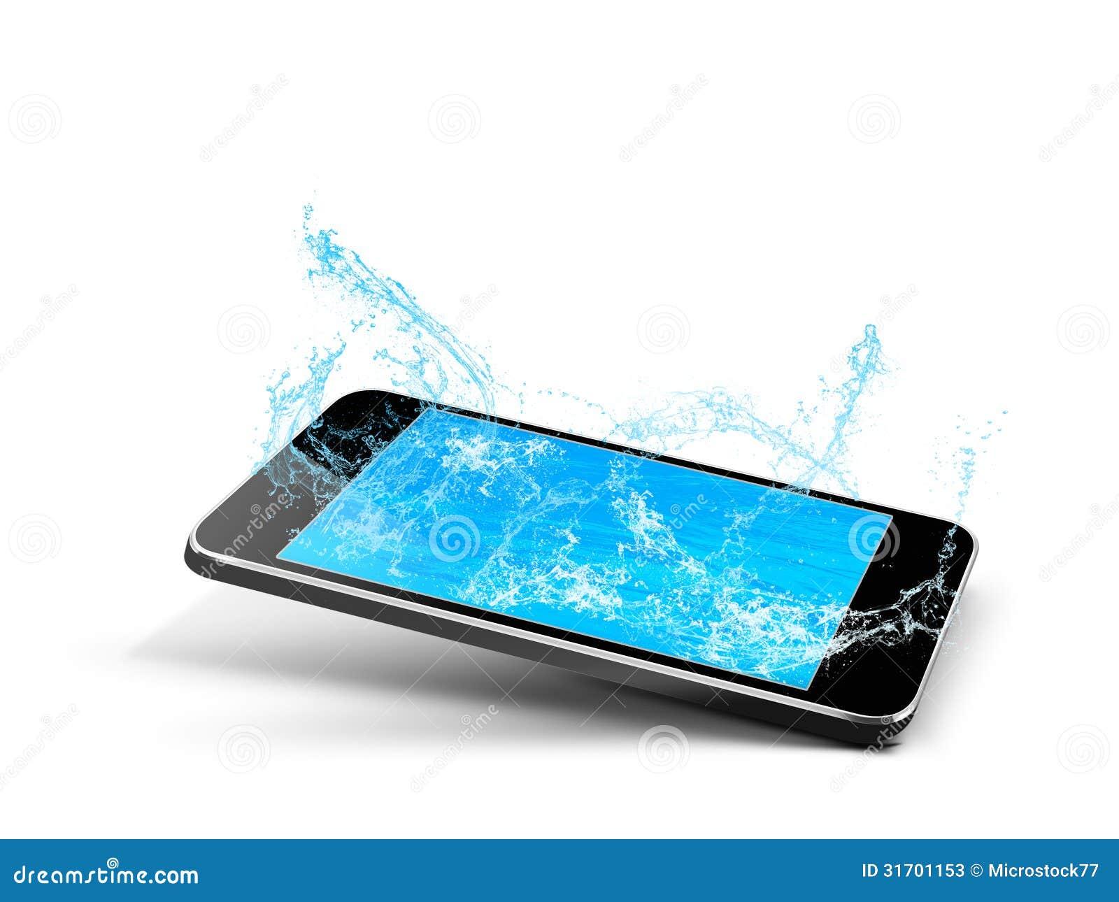 Agua de la piscina del teléfono