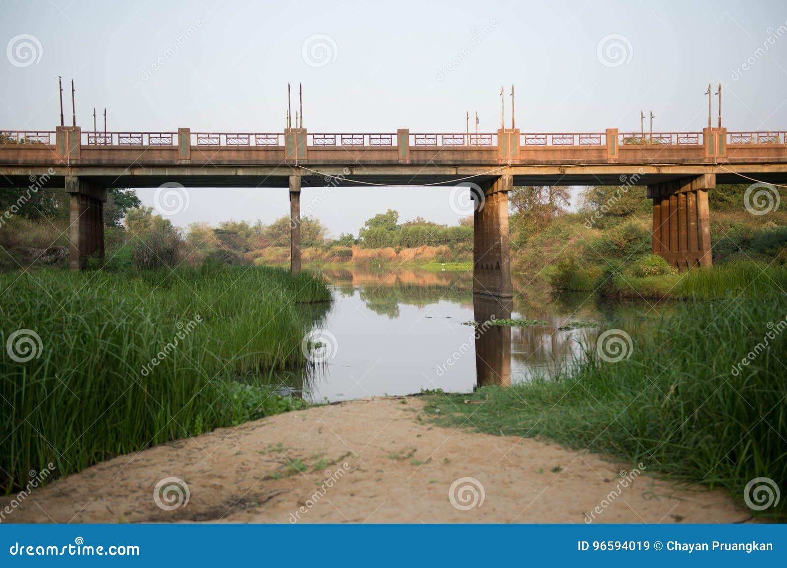 Agua, suelo, vegetación, puente