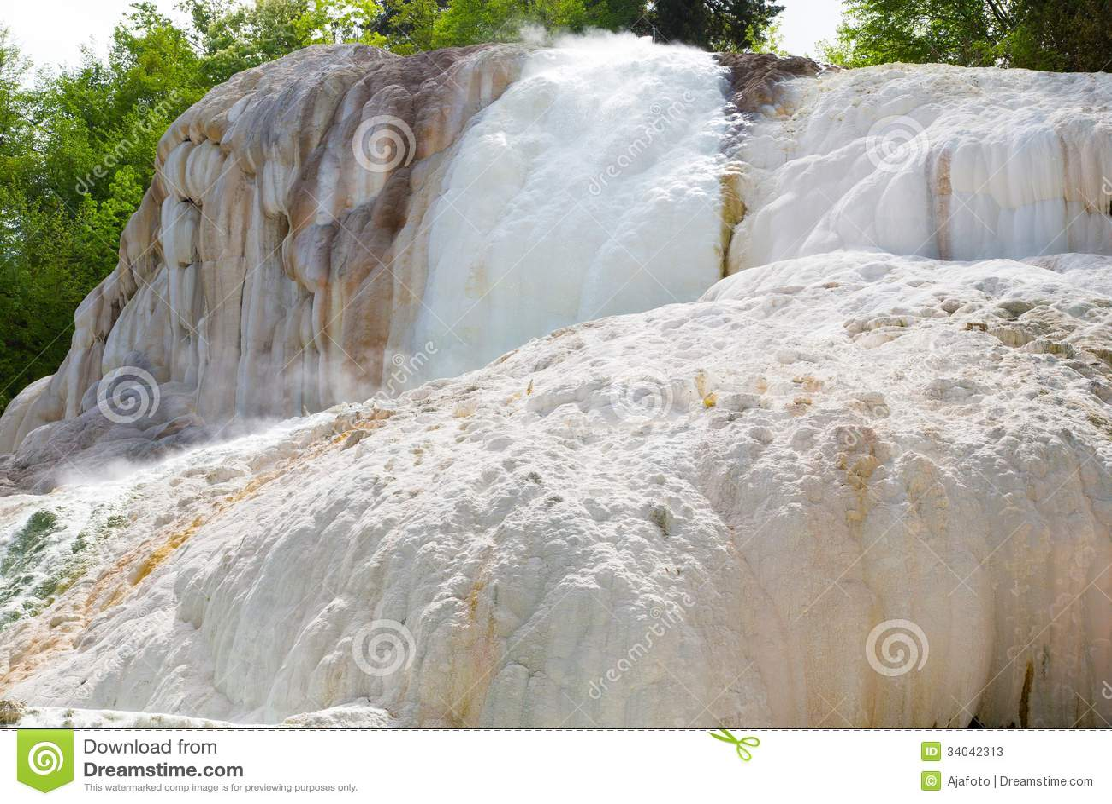 Aguas termales de Fosso Bianco en Bagni San Filippo