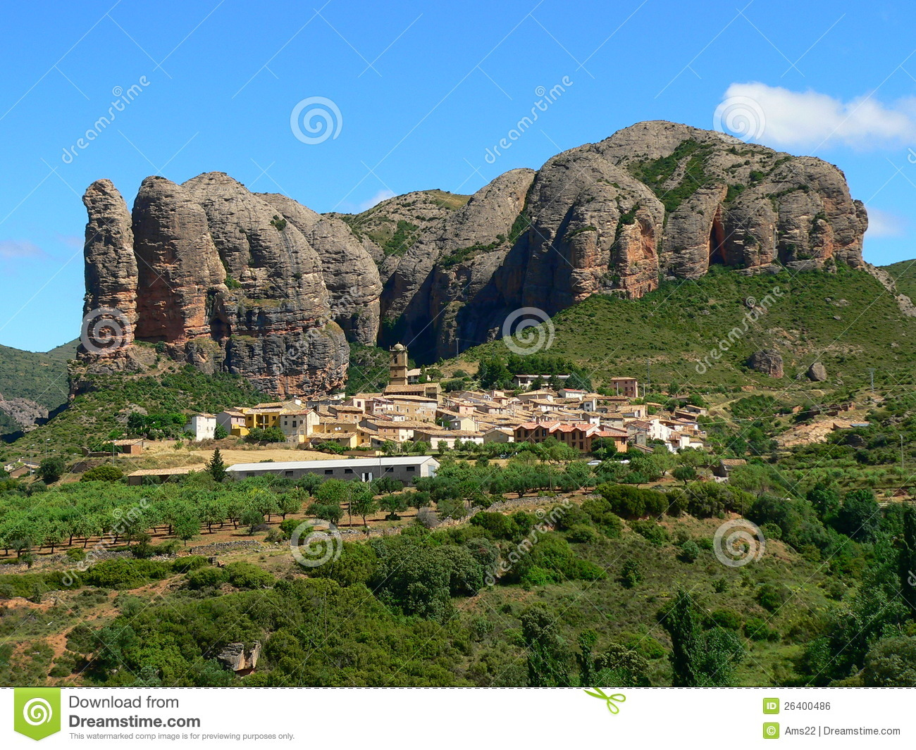 Huesca Spain  city pictures gallery : Aguero, Huesca Spain Royalty Free Stock Image Image: 26400486