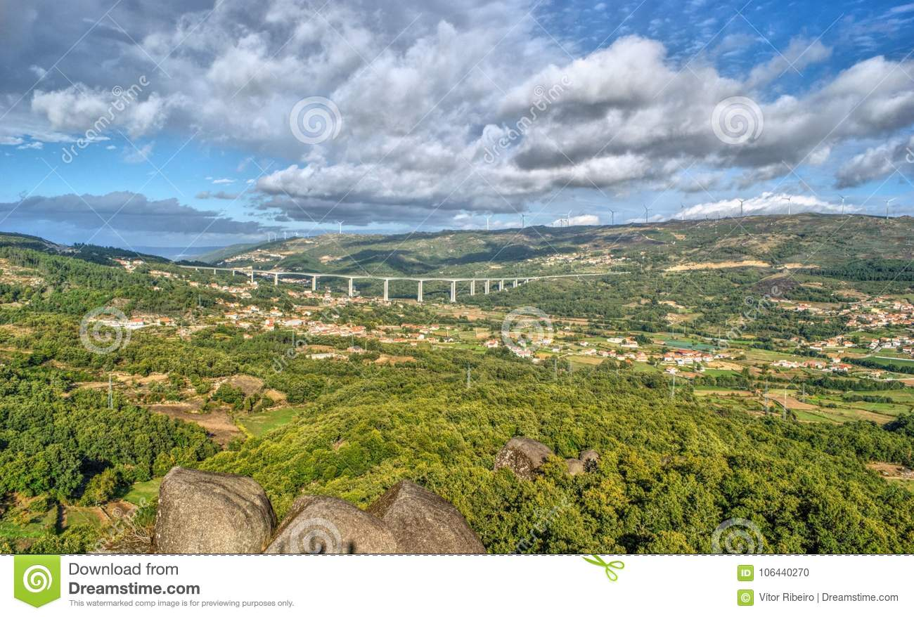 Aguiar valley in Vila Pouca de Aguiar, Portugal