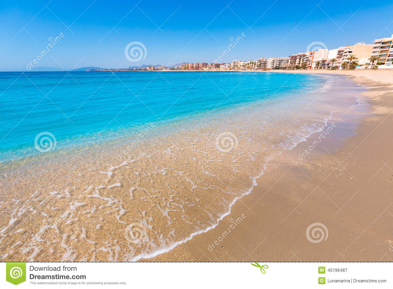 Aguilas Spain  City pictures : Aguilas Poniente Beach Murcia In Spain Stock Photo Image: 45196487