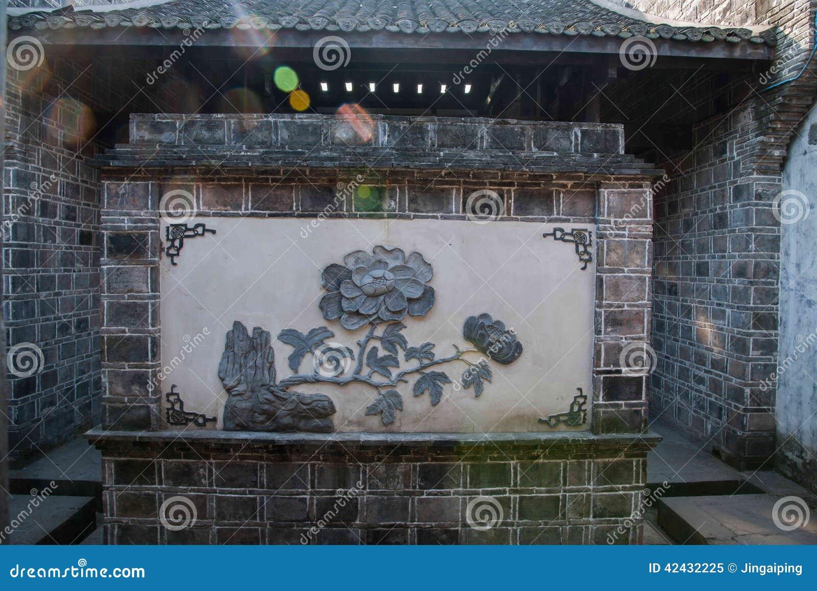 Agujero del camino de Zhaobi de la peonía en la ciudad vieja