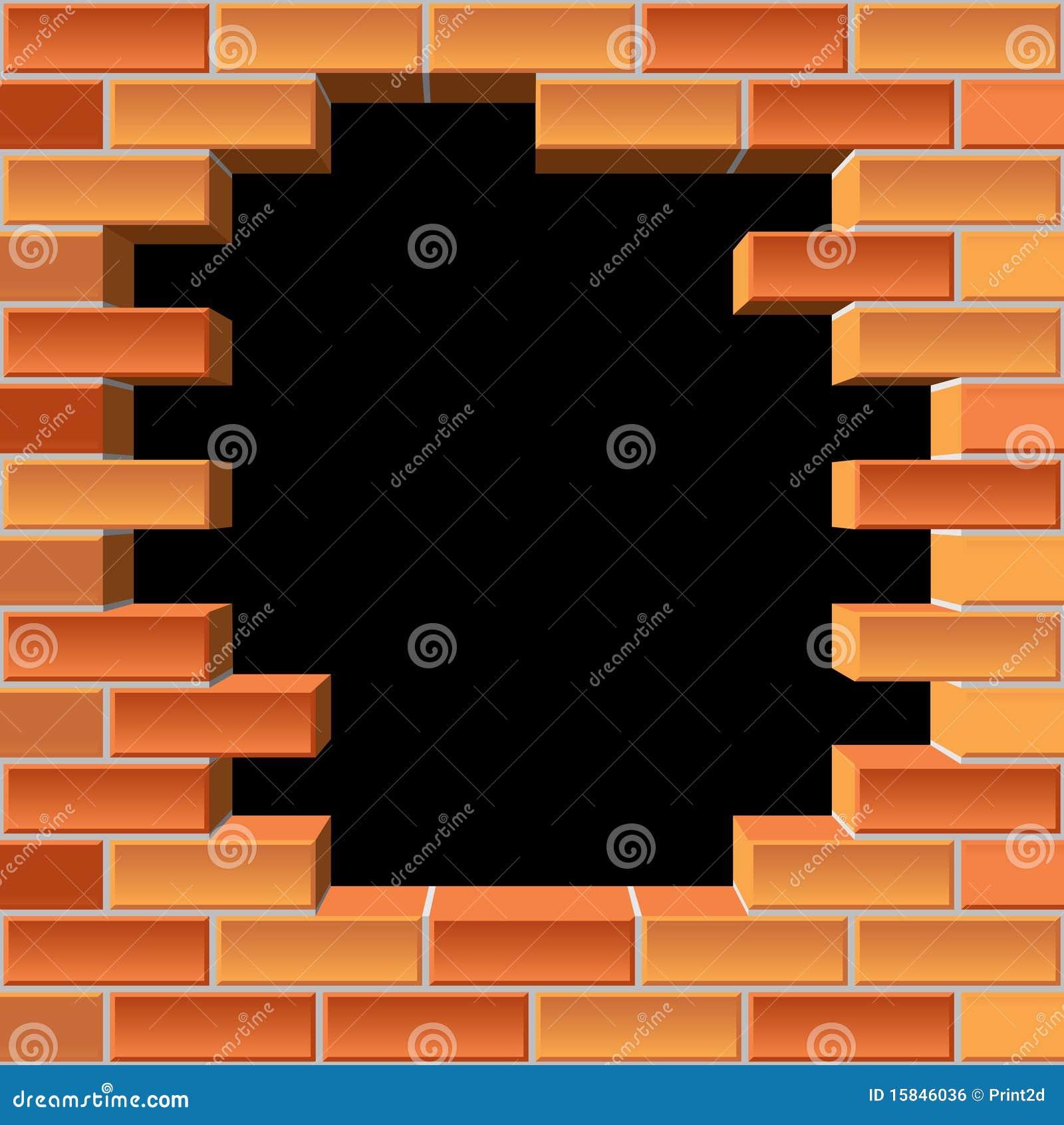 Agujero en pared de ladrillo imagen de archivo libre de - Agujero en la pared ...