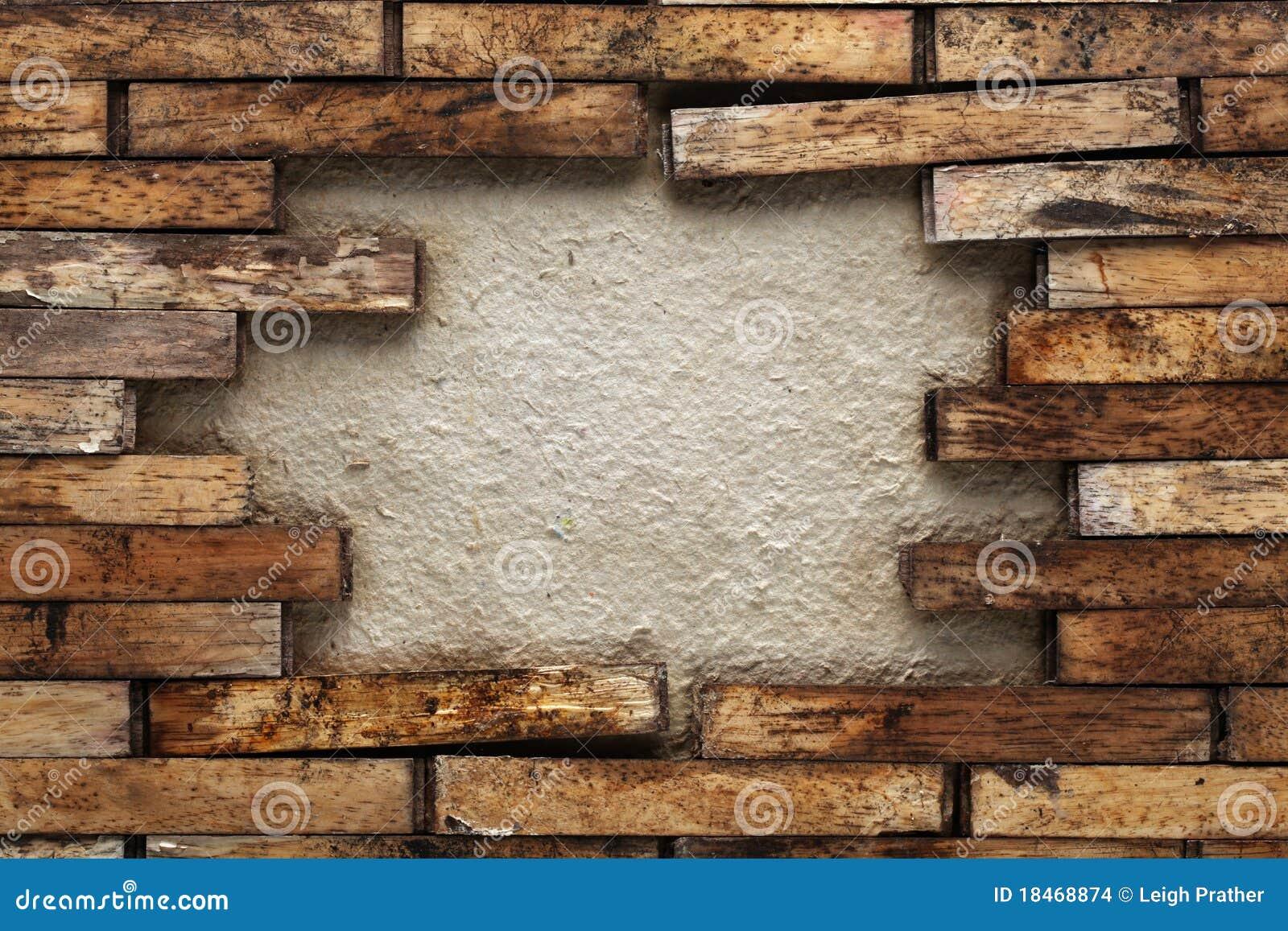 Agujero en una pared de madera imagenes de archivo - Revestir pared con madera ...