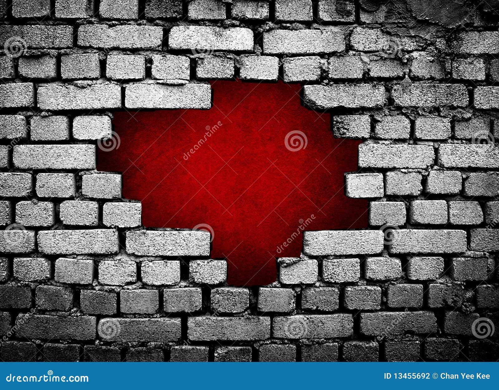 Agujero grande en la pared de ladrillo - Agujero en la pared ...