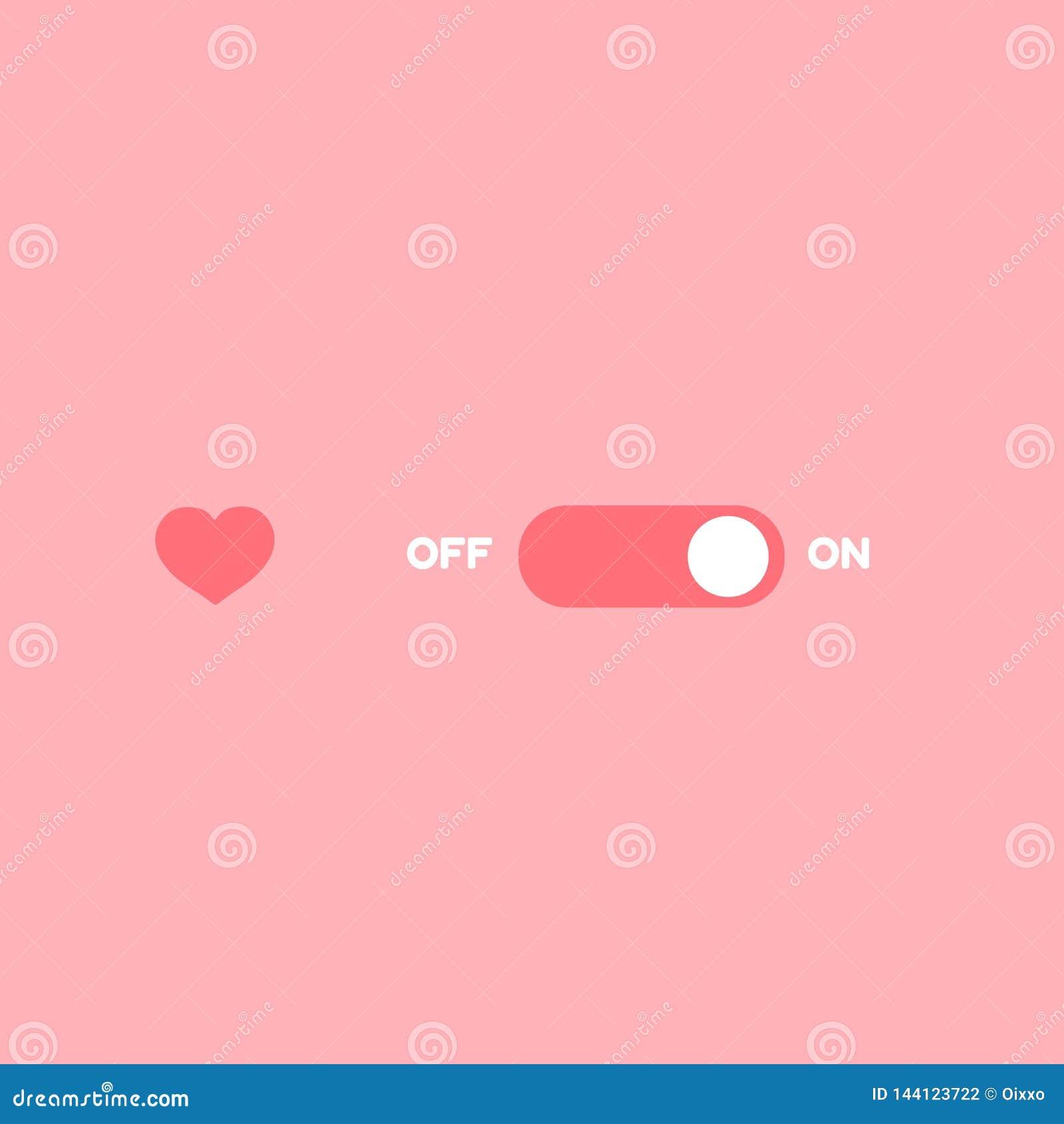 Agulheiro do amor Rom?ntico -FORa no interruptor de alavanca Valentine Day ativa
