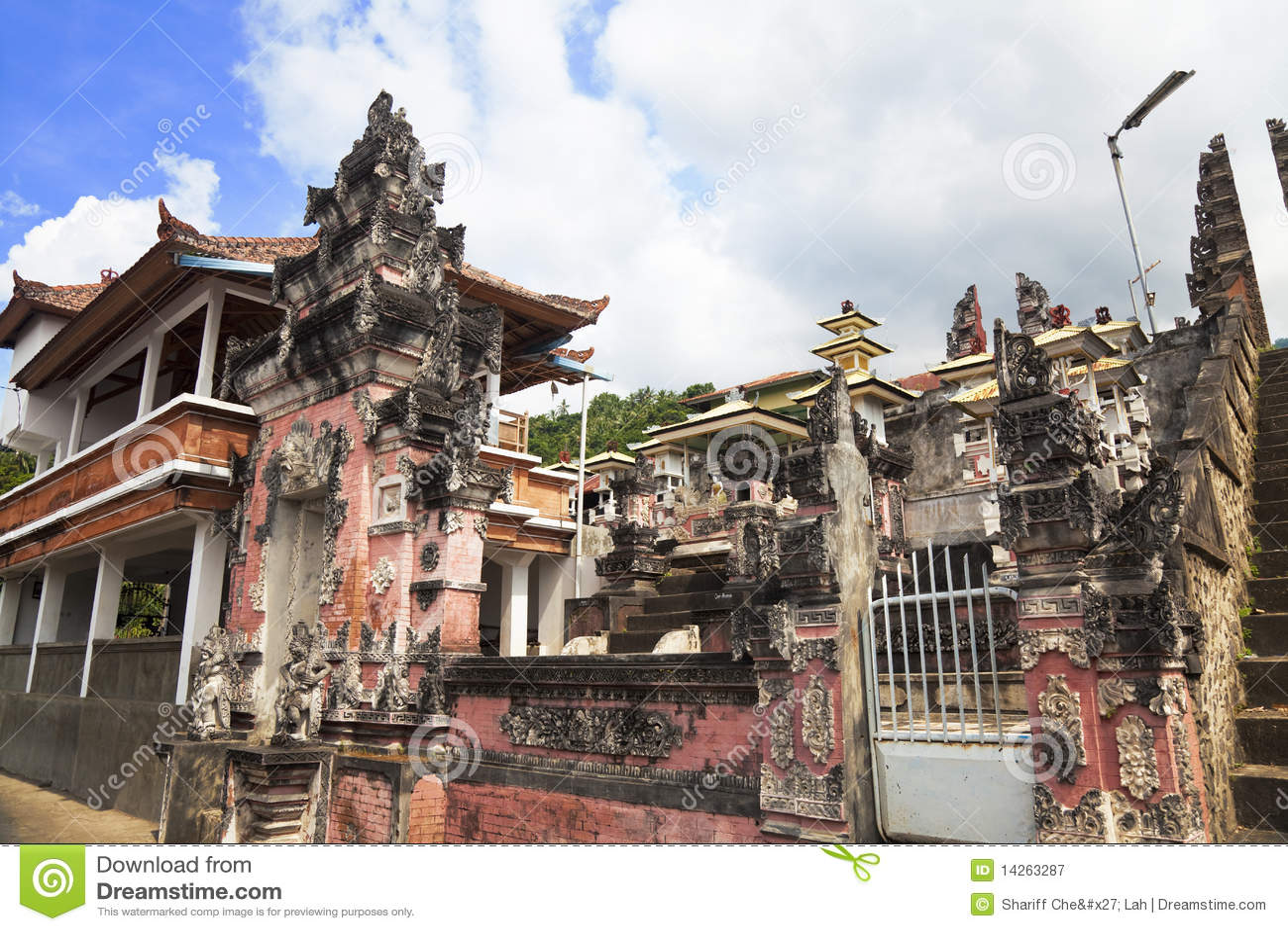 Agung pasar pura του Μπαλί Ινδονησία