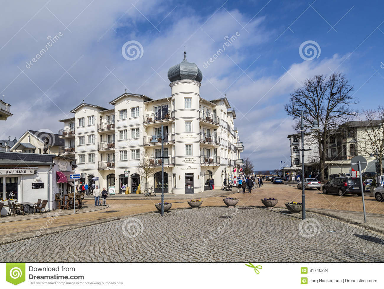 Ahlbeck At Baltic Sea On Usedom Island Editorial Stock Image