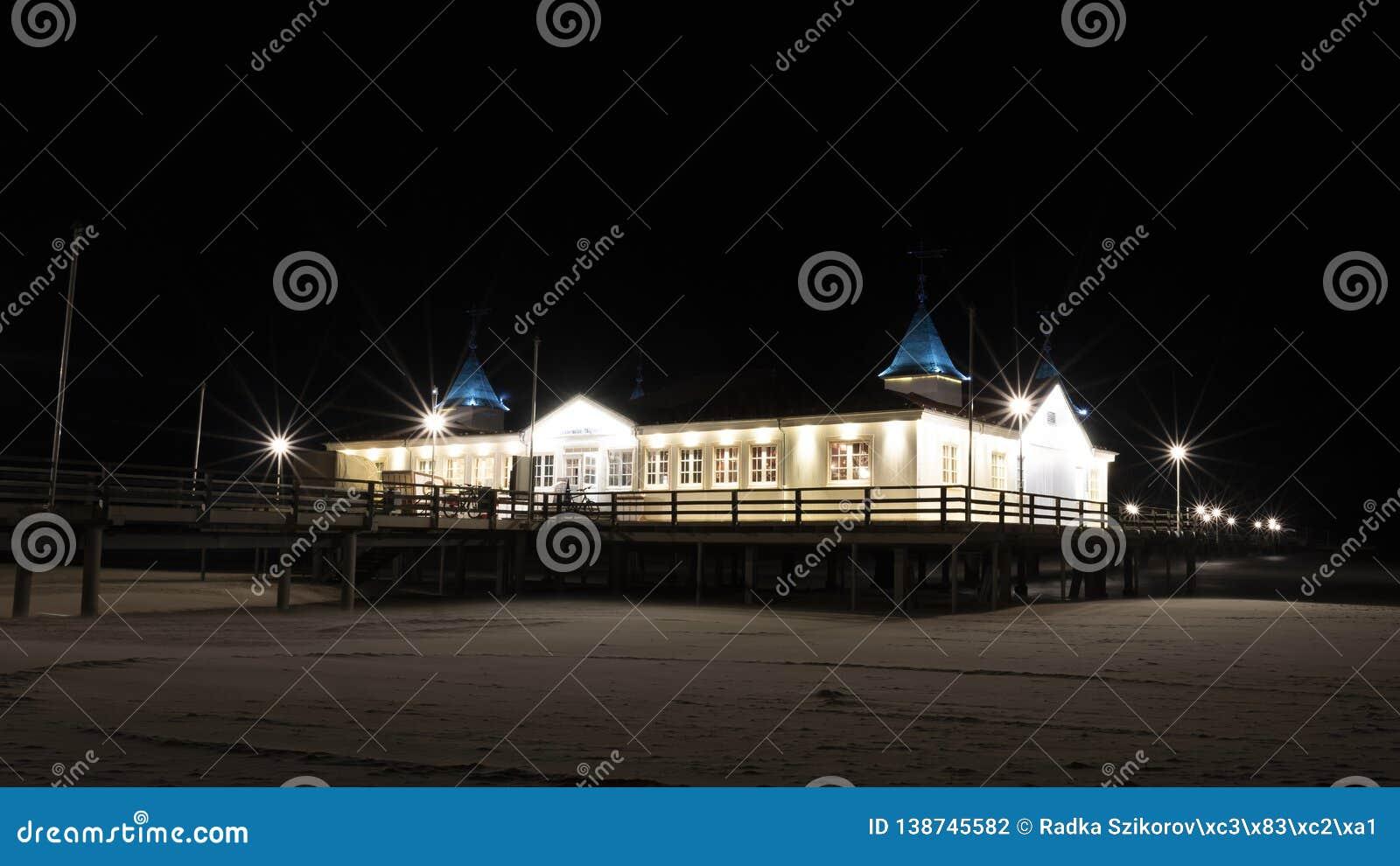 Ahlbeck sea bridge, Germany