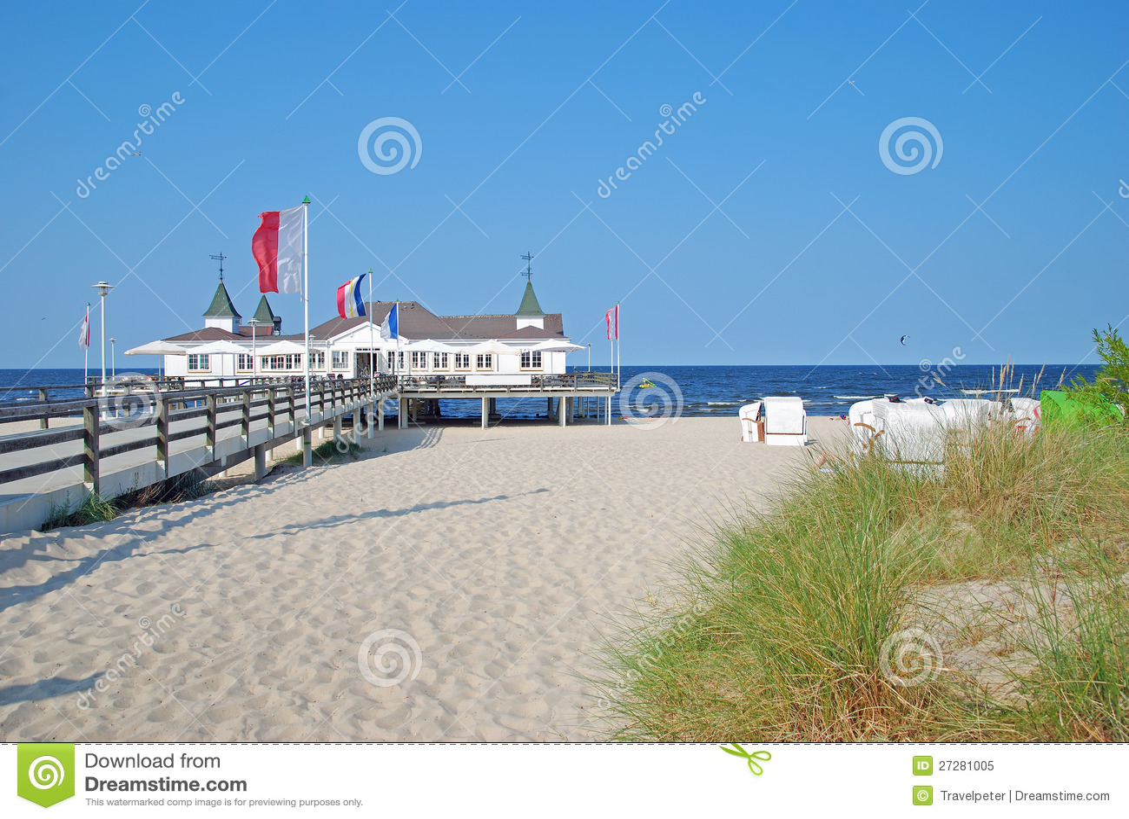 Ahlbeck usedomö, Östersjön, Tyskland