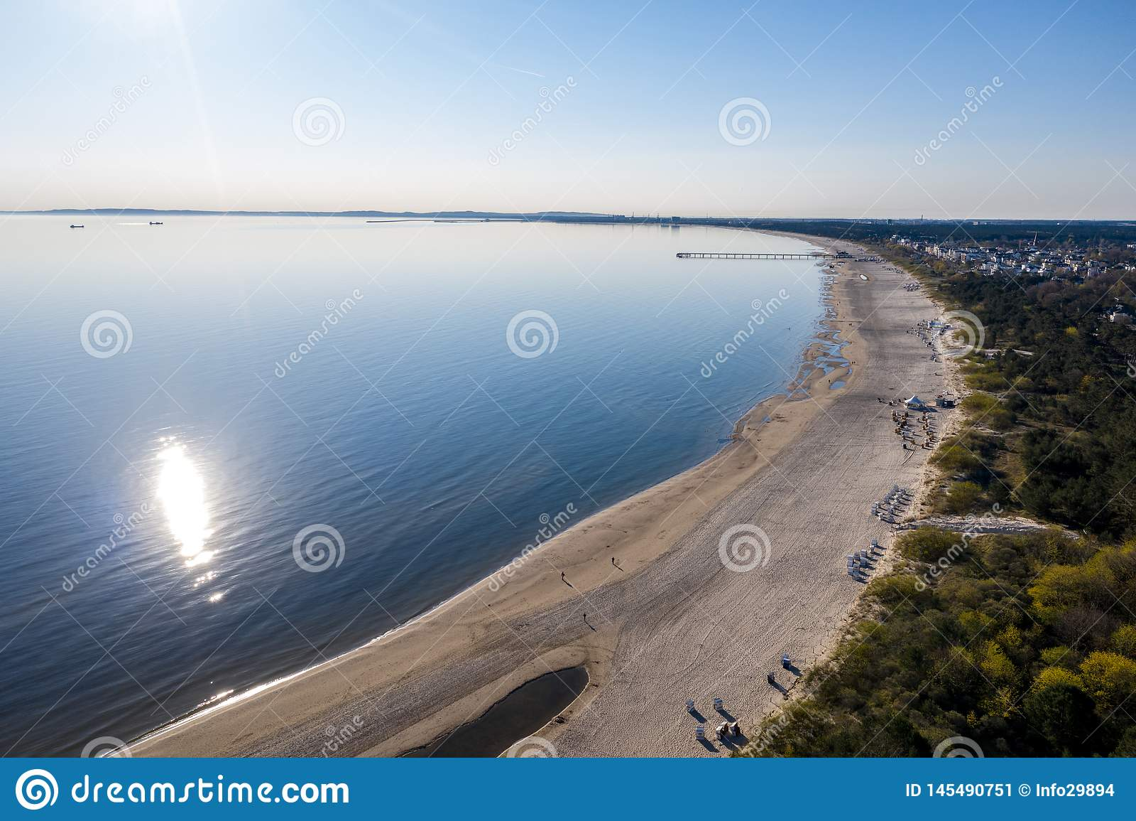 Ahlbeck, Usedom, nature, fond, été, océan, dessus, bourdon, l eau, les gens, bleu, beaux, vacances, antenne, vue, paysage,