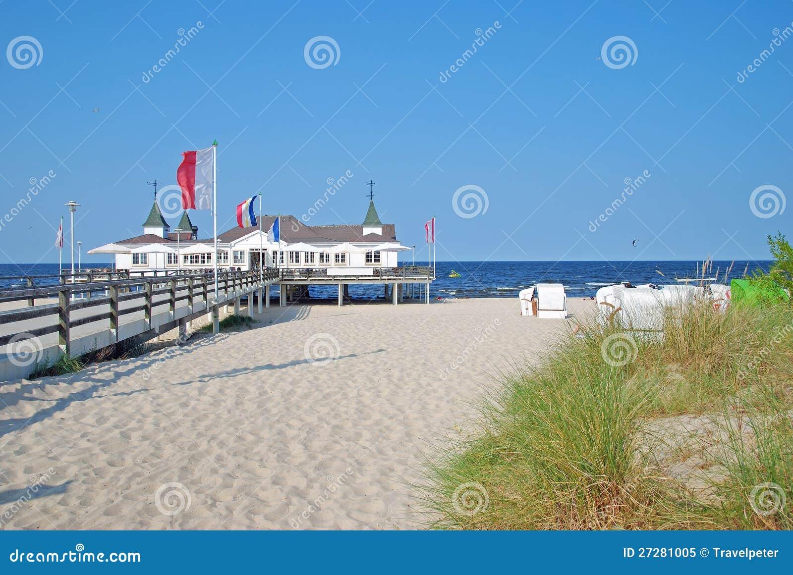 Ahlbeck, usedom wyspa, Morze Bałtyckie, Niemcy
