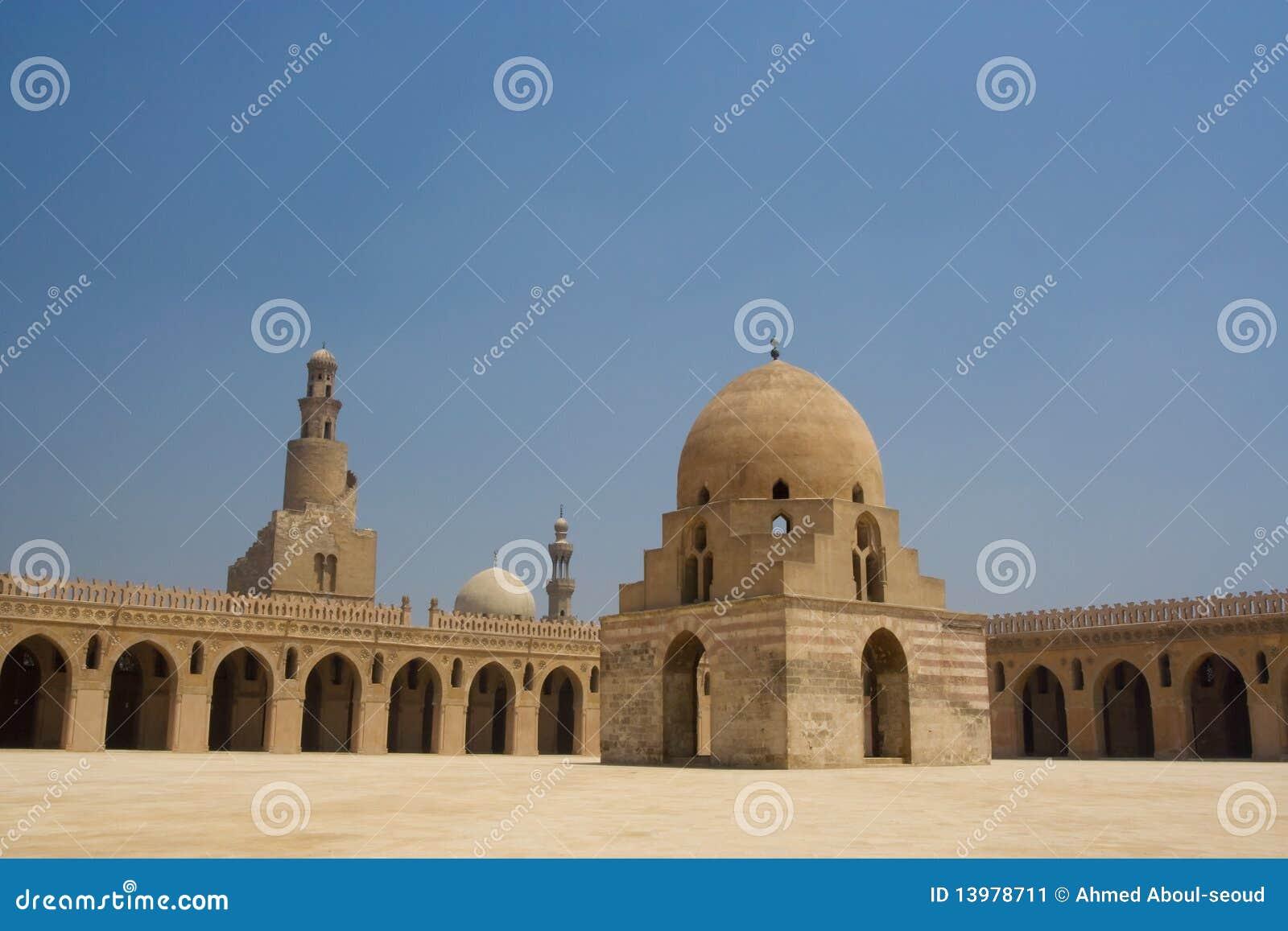 Ahmed Ibn Tulun Mosque in Kaïro, Egypte