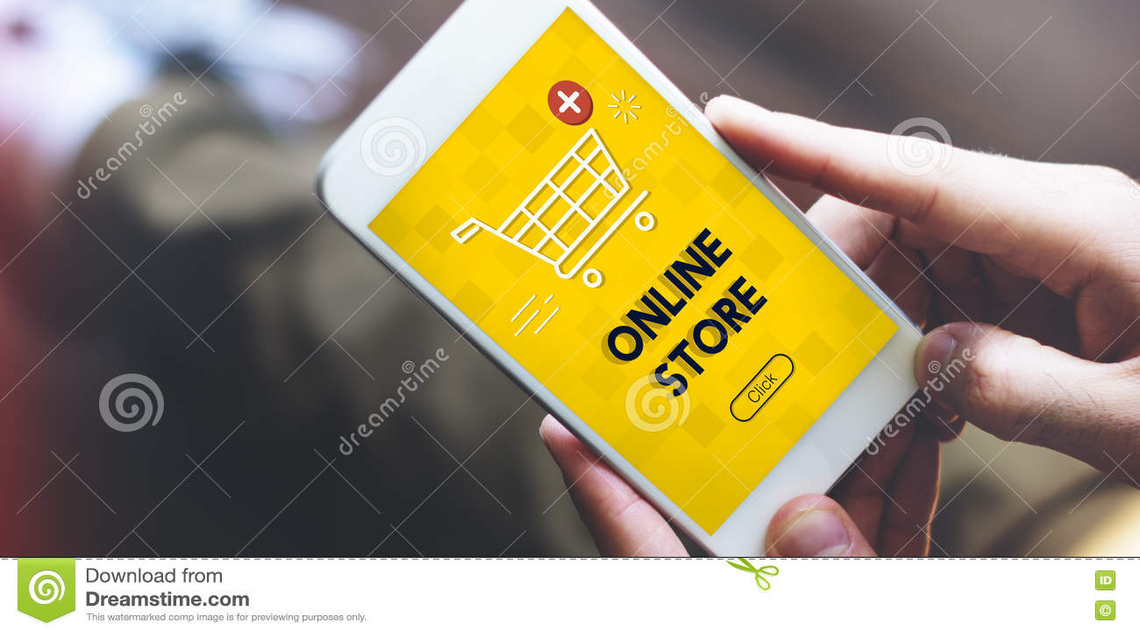 Ahora añada el concepto en línea del gráfico del comercio de la compra del carro