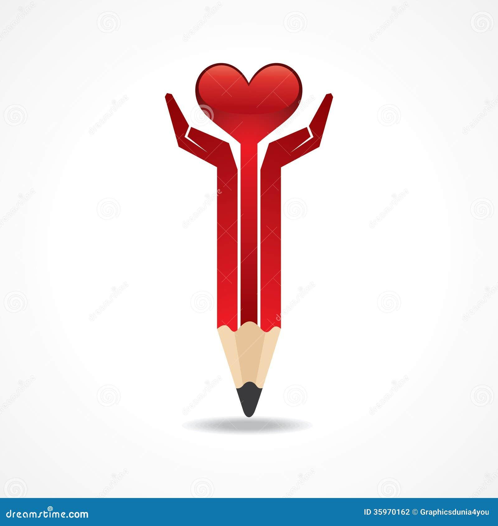 Ahorre el concepto de la vida con las manos del lápiz