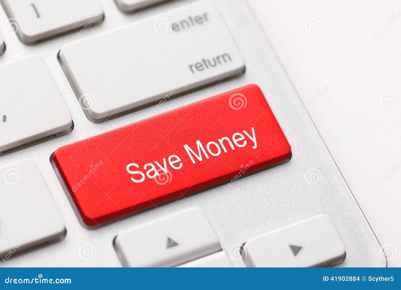 Ahorre la llave del botón del dinero