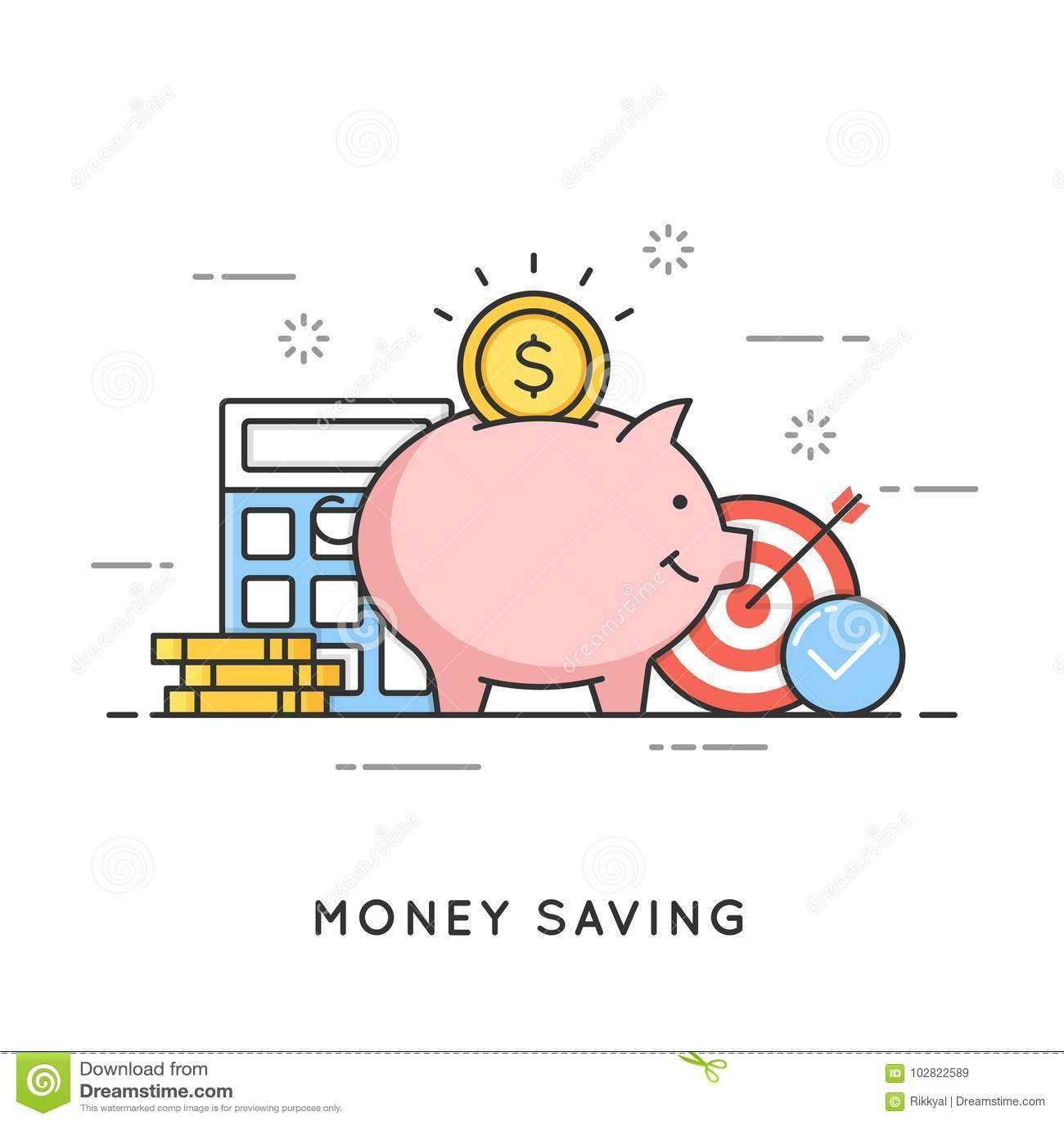 Ahorro del dinero, inversión del depósito, gestión de presupuesto, economía