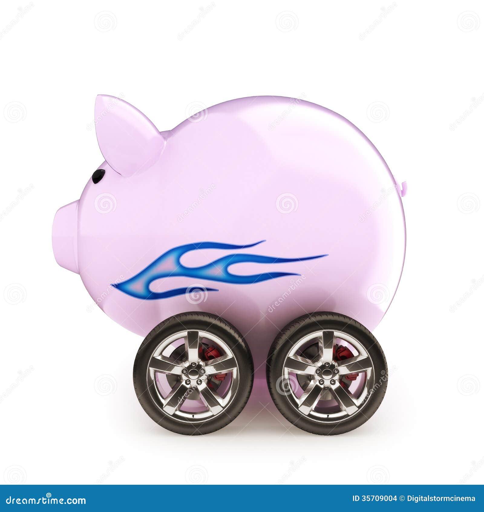 Ahorros del coche de deportes.