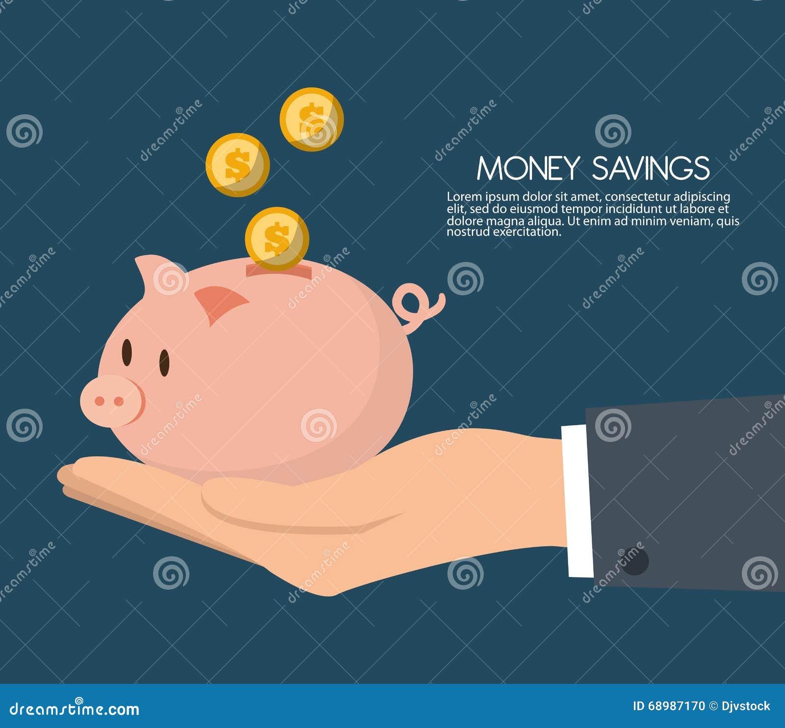 Ahorros del dinero con el diseño guarro, ejemplo del vector