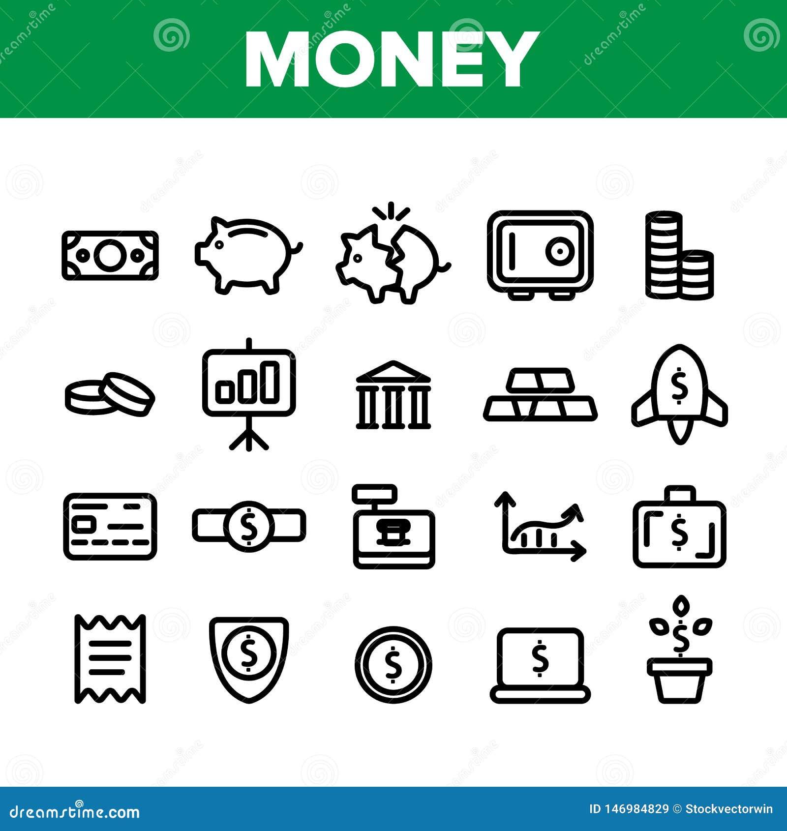 Ahorros del dinero, depositando ejemplos lineares del vector