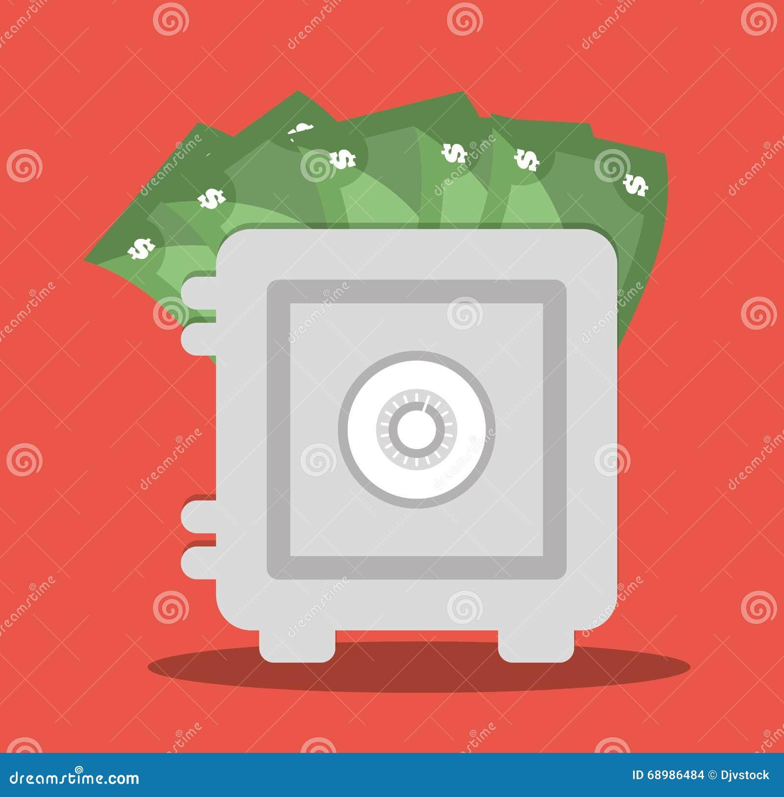 Ahorros diseño, ejemplo del dinero del vector