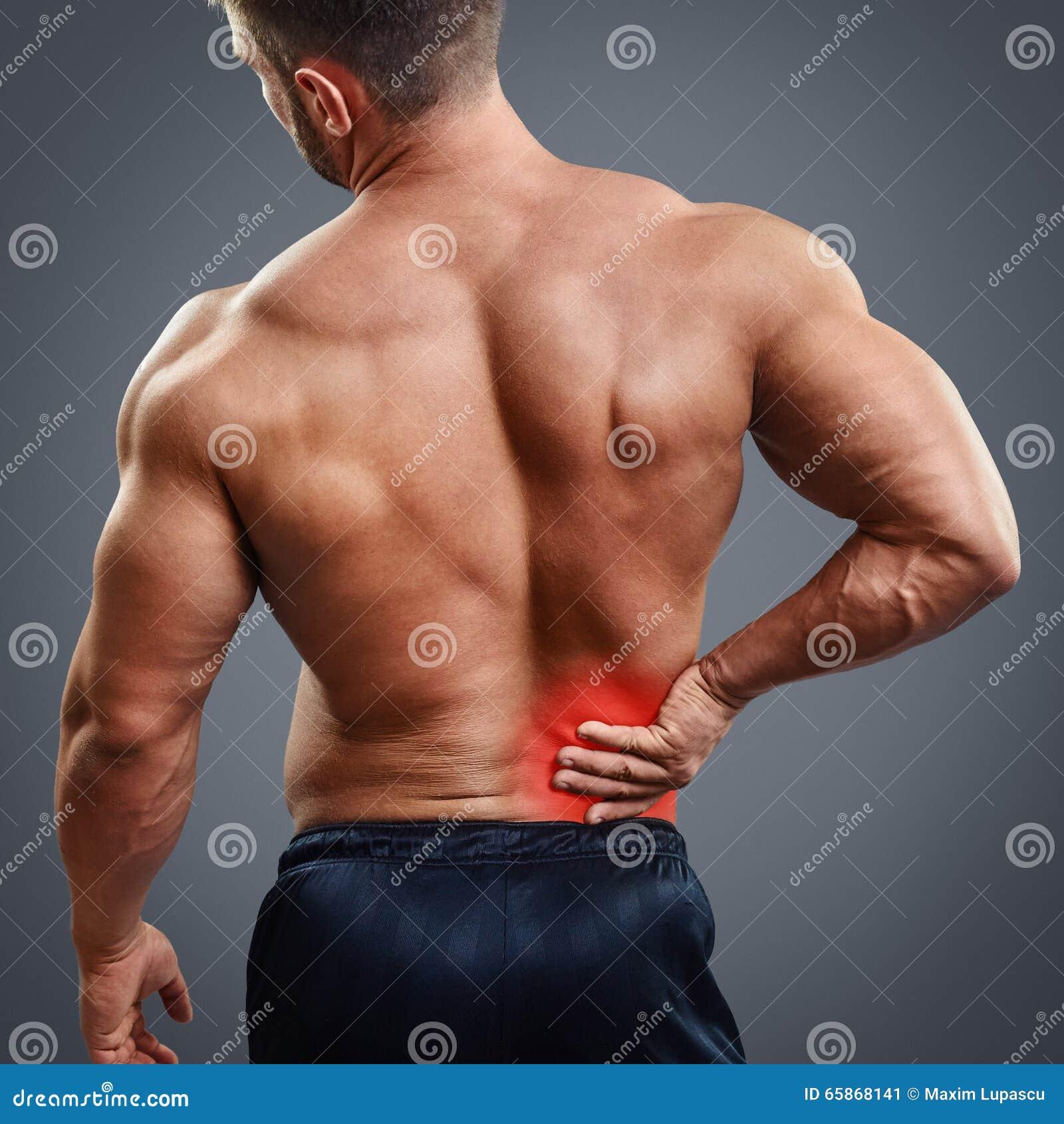 ahtletic muscle man back pain stock photo 65868141 megapixl